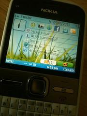 Running the Nokia E5 on @virginmobilecan