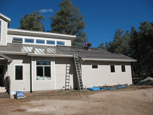 Sustainable home being built near Flagstaff AZ
