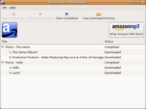 Screenshot-Amazon MP3 Downloader