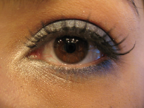 Opalescent navy silver eyeshadow eyelash makeup pictures gallery