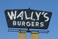 Wally's Burger sign