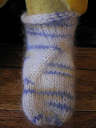 closeup of Coriolis sock