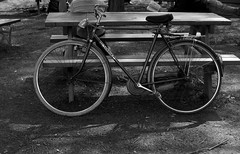 Una graziella a riposo... (Laura :-)) Tags: bw torino bici 25aprile pellerina scampagnata parcodellapellerina