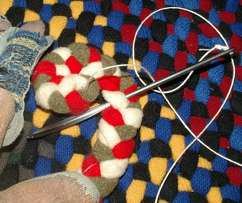 You Only Do Increases On The Braid That Is Being Attached To The Rug. You  NEVER Skip Any Braid Strand On The Part Of The Rug That Has Already Been  Attached.