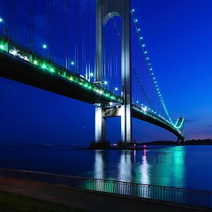 Verrazano bridge | NYC (Diego Tabango) Tags: nyc longexposure travel bridge blue sunset usa newyork nikon pg nights d300 verrazano sigma1020 diegonyc