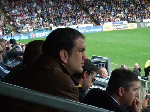 Martin Johnson watching Wasps vs Bath