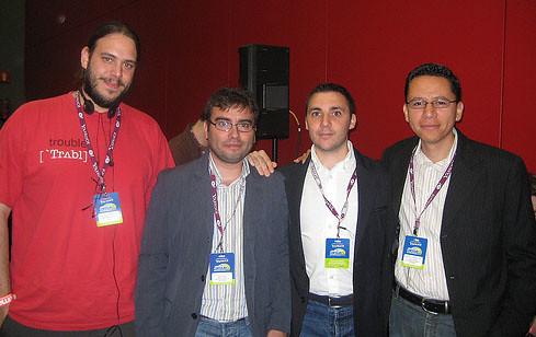 Varios amigos en el SMX 2008