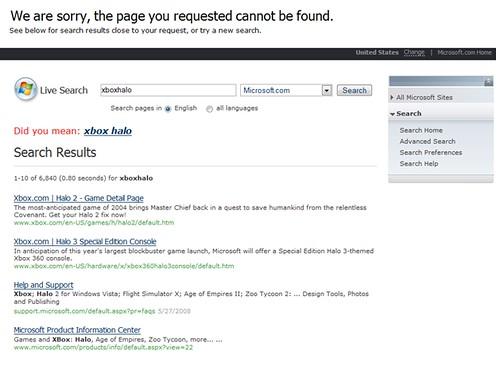 New Error Page