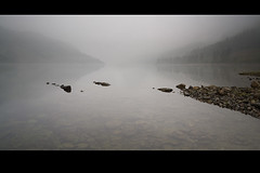 Good Place To Bury Your Thoughts (jasontheaker) Tags: trees mist lake fog reflections dark still fishing alone sad grasmere reservoir cumbria depressed buzzard dim drama sorrow osprey helvellyn thirlmere landscapephotography jasontheaker lakedistrict vision100