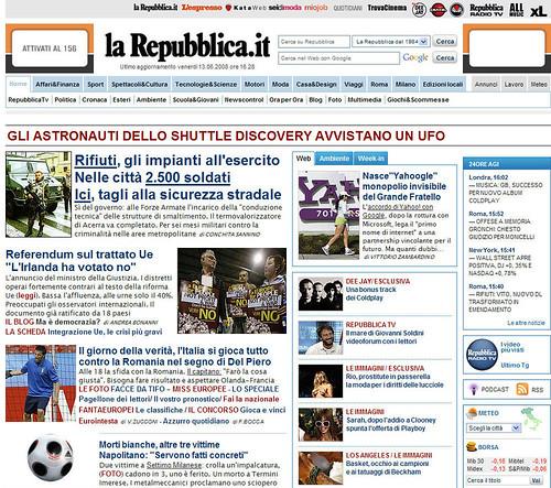 Repubblica.it e gli UFO