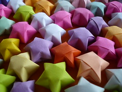 Colorful stars (stopglobalwarming) Tags: color colour paper stars star origami colorful vivid colores lucky estrellas colori colorido  colorfulstars flickrcolour abigfave anawesomeshot colorphotoaward
