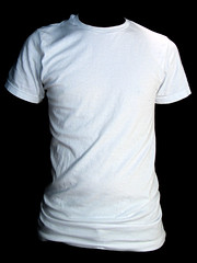 Torso- White (ir0cko) Tags: white male torso threadless plain onblack blanktee