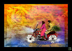 Harold and Maude (Karl Georges) Tags: love colors photoshop cores harold moto karl maude ilustrao ilustration desenho catstevens