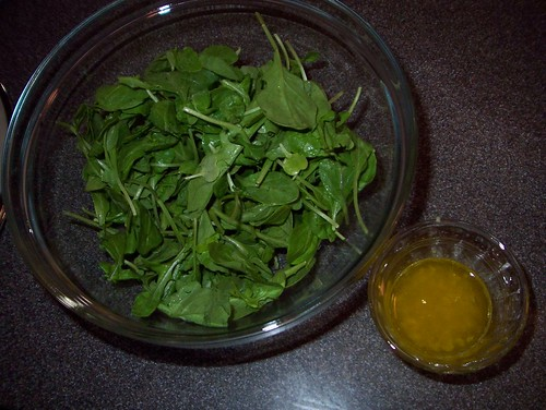 arugula and lemon dressing