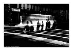 (Hughes Lglise-Bataille) Tags: street shadow blackandwhite bw motion blur paris france topf25 car topf50 waiting crossing shadows noiretblanc voiture passage 2008 topf100 topf200 xing pitons