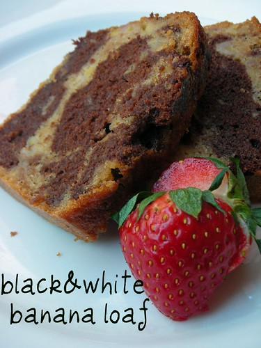 black-and-white banana loaf