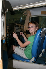 Megan flying a cessna