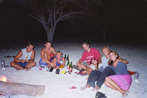 Hanging out with friends on Kanawa Island