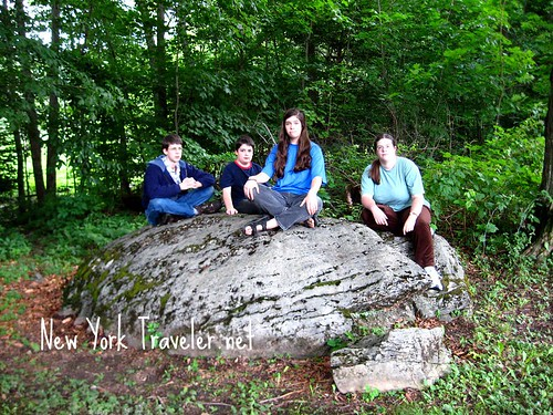 Kids at the Oneida Stone Altar