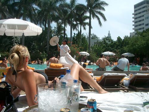Shore Club day pool scene