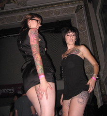 2 Suicide Girls (seaotter22) Tags: sanfrancisco girls tattoo dance gogo suicidegirls rubyskye sleeve littleblackdress tattooed