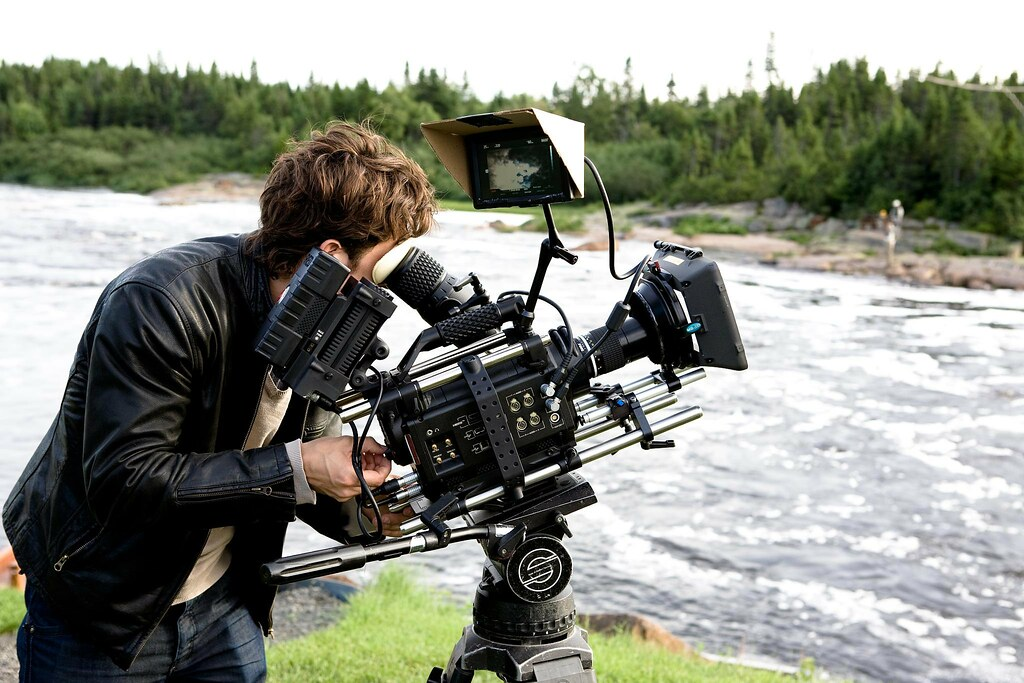Red Camera on set