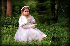 a princess in the forest (AnnaBella Photography by Annamarie and Teresa Dear) Tags: fairytale woods princess daughter fireflies micartttt makeothershappy