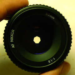 50mm f/8 lens front