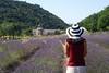 Lavande (the bbp) Tags: sun france church girl hat lavender chiesa chapeau provence sole lavande francia cappello ragazza lavanda abbayedesenanque abazia thebbp aplusphoto wowiekazowie