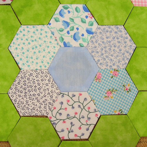 hexagons - hellblau - lightblue