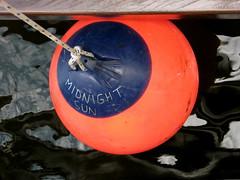 midnight sun (Szymek S.) Tags: canada vancouver boat britishcolumbia vessel falsecreek granvilleisland buoy buoyant mvmidnightsun vancouverwoodenboatfestival
