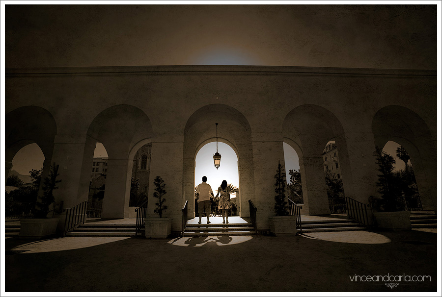 archways 2 pasadena city hall engagement session wedding photographer e session california