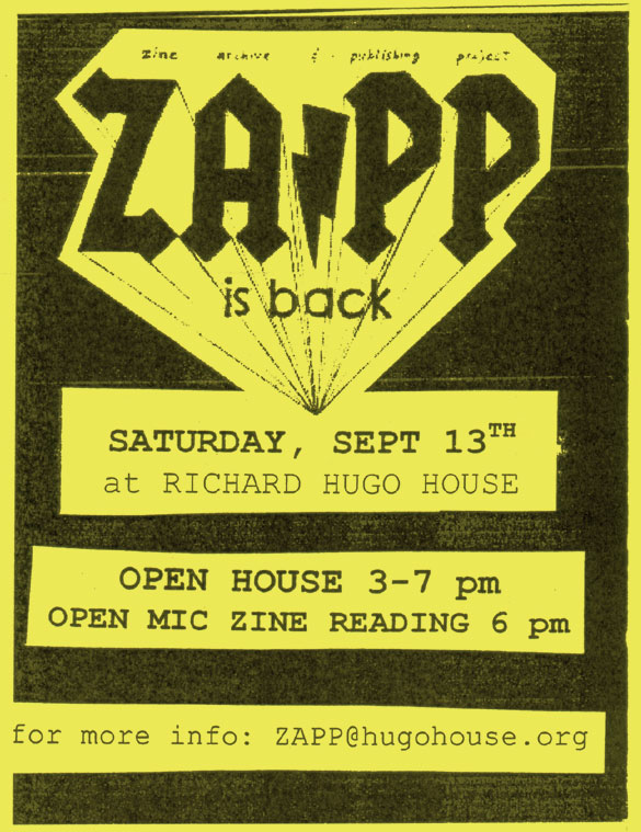 ZAPP is BACK! Graphic: David Lasky