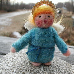 Sweet Angel (HappyCatStudio) Tags: wool nature angel felted vintage toy mouse rodent beads snowman rat doll natural tail joy maine creative whiskers mice fantasy paws magnificent roving ratty needlefelted