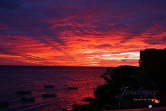 Barbados Sunset (jendayee) Tags: sunset red sea clouds boats violet barbados 1001nights goldenglobe bej mywinners abigfave platinumphoto skytheme dpsred