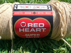 Red Heart Light Brown Yarn