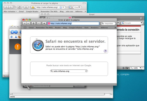 Webs de alta calidad bloqueadas mediante el archivo hosts por pura envidia, navegadores Safari, Firefox, Flock y Opera