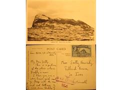 Antique postcard: Gibraltar- WWII RAF (Baltimore Bob) Tags: old antique postcard wwii worldwarii gibraltar raf homefront wartime censor royalairforce