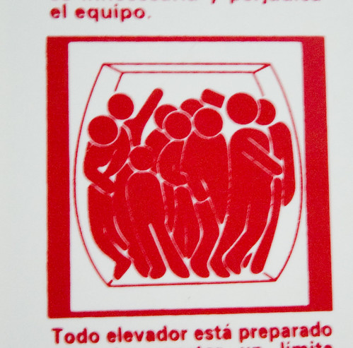 Peril in an elevator by Citotoxico.