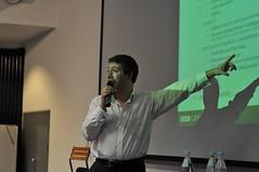 Jonathan Hassell presenting