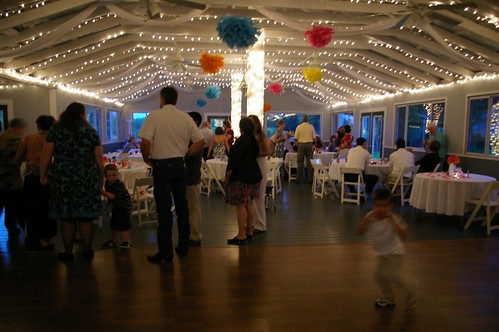The one below was taken during the reception I love all the twinkle lights