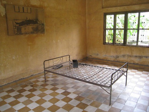 Typical cell with photo of person who was likely the last to die there