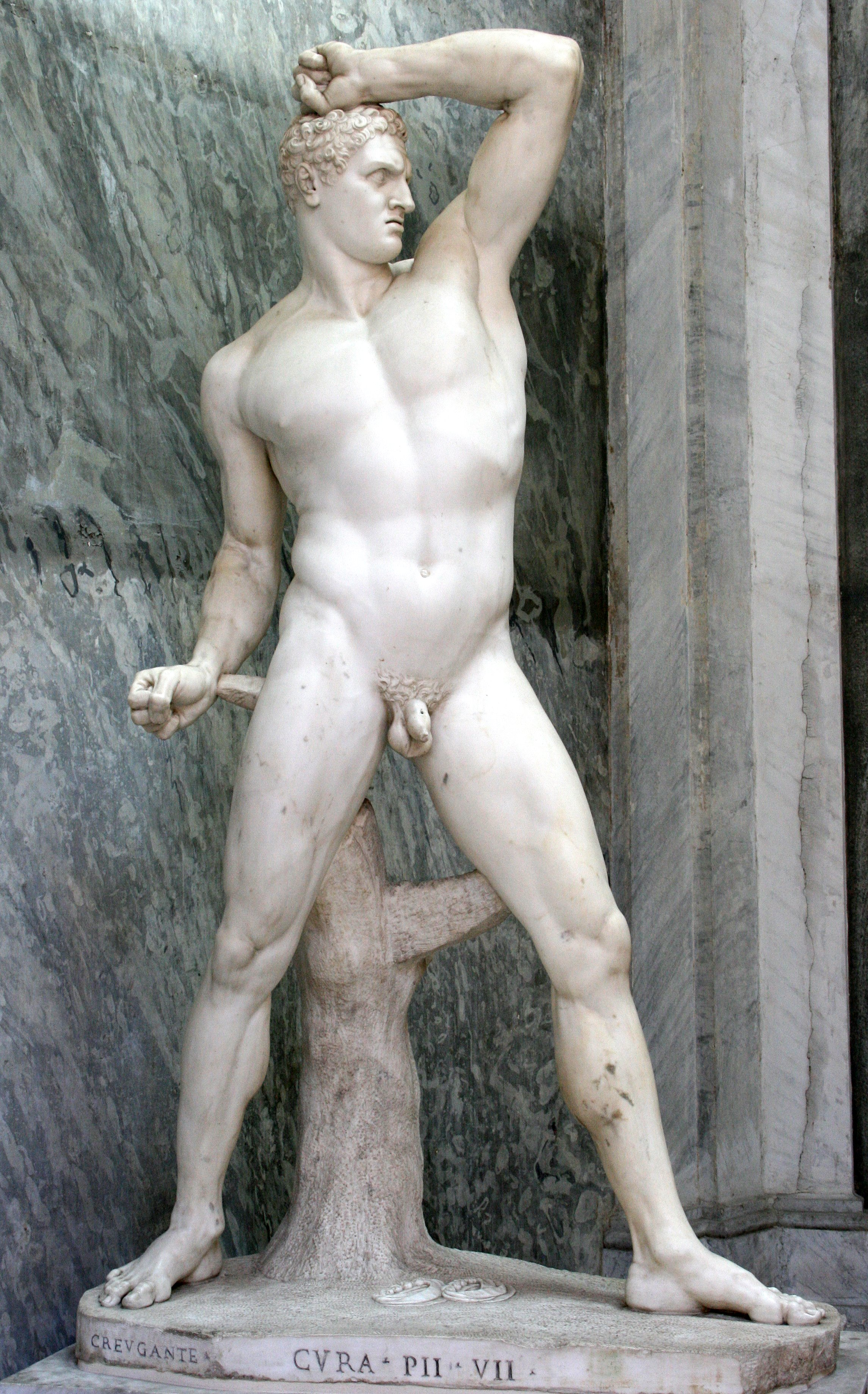 Greek male nude statues think, that