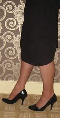 And a bit more (Rachael 1968) Tags: rachael stockings high heels suspenders crossdresser girdle transvestiteskirt