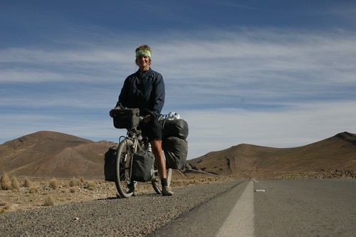 Happy being back on a smooth surface. South of Potosi, Bolivia.