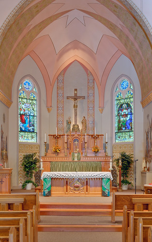 Saint Francis of Assisi Roman Catholic Church, in Portage des Sioux, Missouri, USA - sanctuary