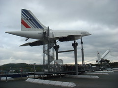The Concorde in flight position