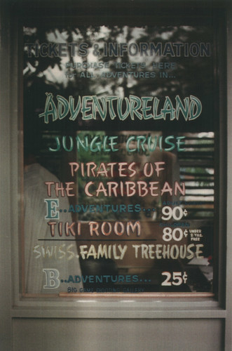 Disneyland Adventureland Ticket Window, 1970s