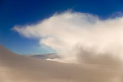 White fight Blue in the sky (GerardKremer) Tags: blue sky cloud white flight superaplus aplusphoto