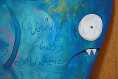 uglybutawesome2.jpg (n.wrecks) Tags: wood blue painting uglydoll wedgehead uglycon